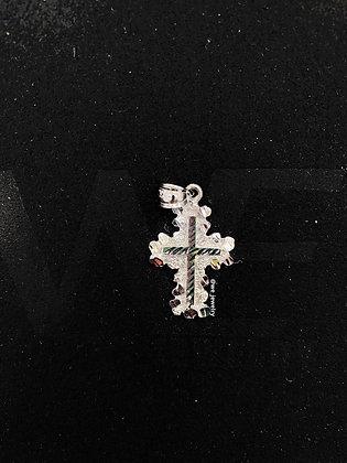 10K White Cross Pendant