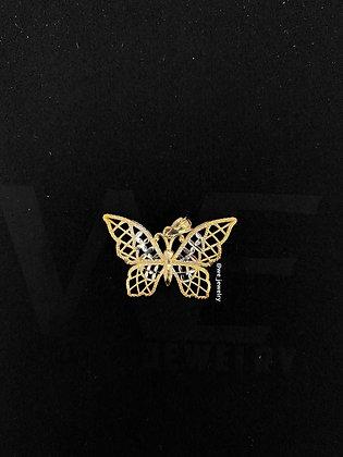 10K Butterfly Frame Pendant