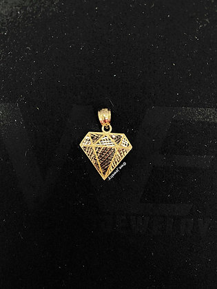 10K Diamond Shape Pendant
