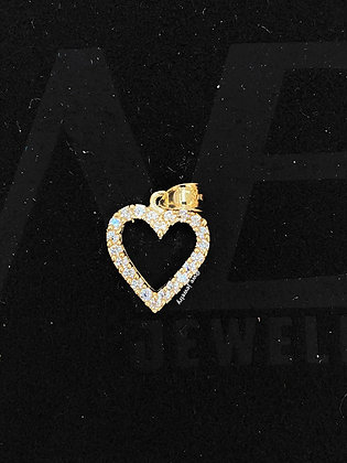 10K Gold Heart with CZ Pendant