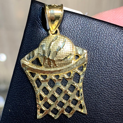 10K Basketball Pendant
