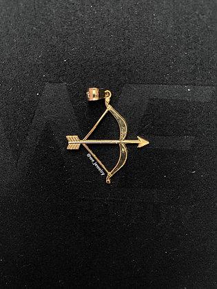 10K Bow & Arrow Pendant