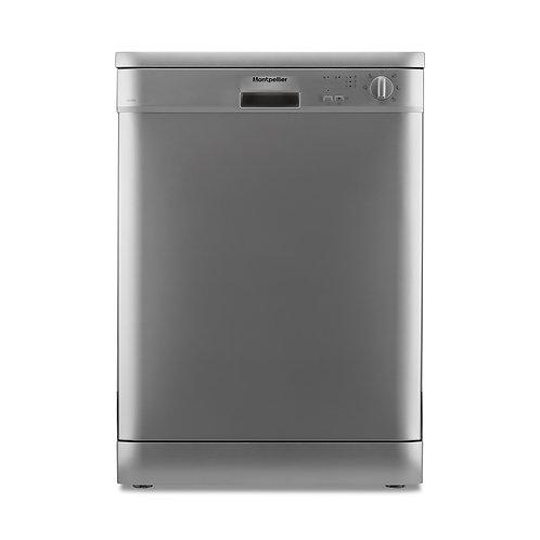 Montpellier DW1255S 60cm Silver  Free Standing Dishwasher