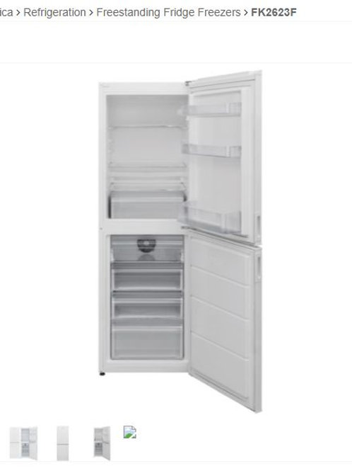 Amica FK2623F 55cm Frost Free F/Freezer 166 cm Ht