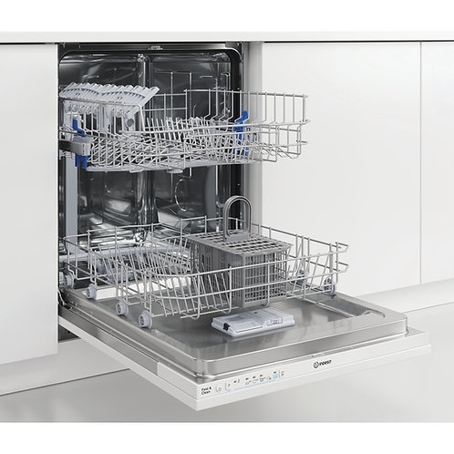 Indesit DIE2B19UK 60cm Fully Int. Dishwasher 13 Place A+