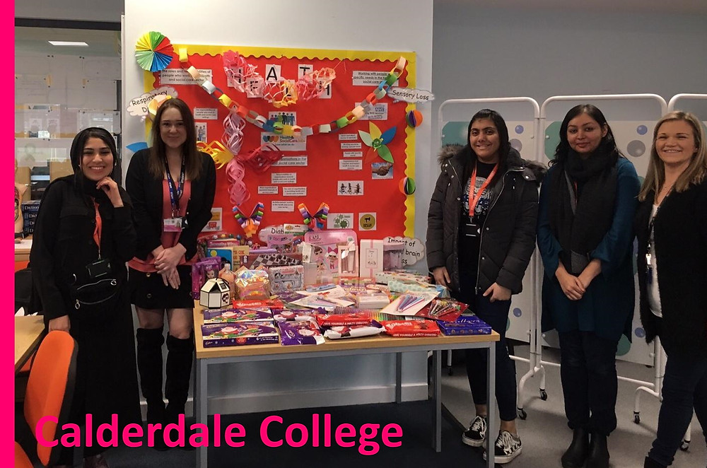 Calderdale College students supporting Yorkshire Children's Trust a truly local Yorkshire Charity