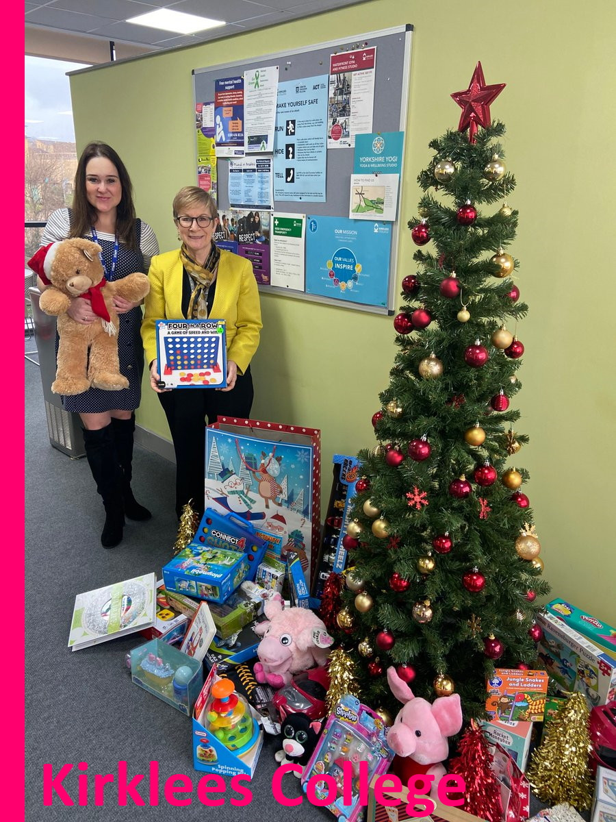 Kirklees College donate to Yorkshire Children's Trust, a local charity, helping local children.