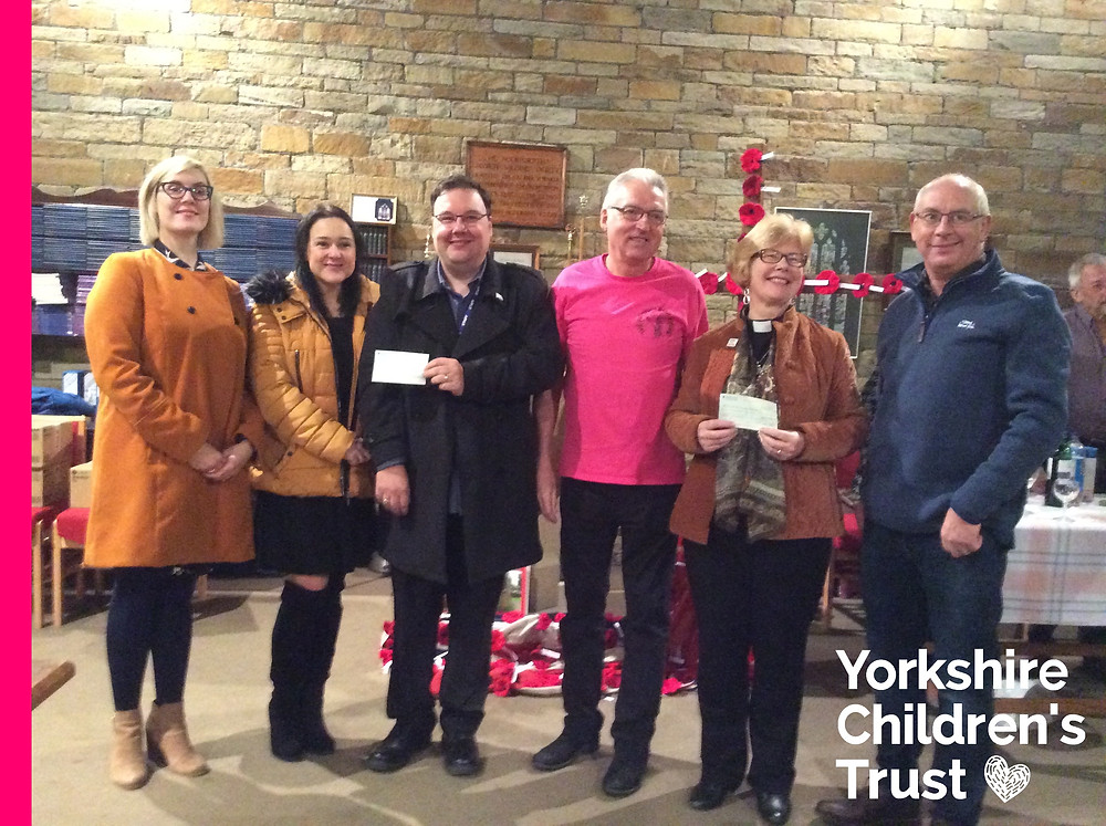 St Johns Church in Rastrick raised a massive one thousand pounds at their beer festival for Yorkshire Children's Trust, a local charity, helping local children