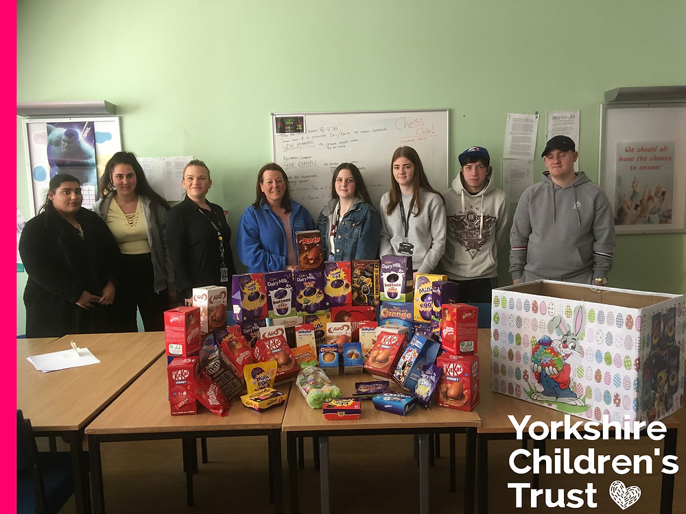 Calderdale College donate Easter Eggs to the charity appeal