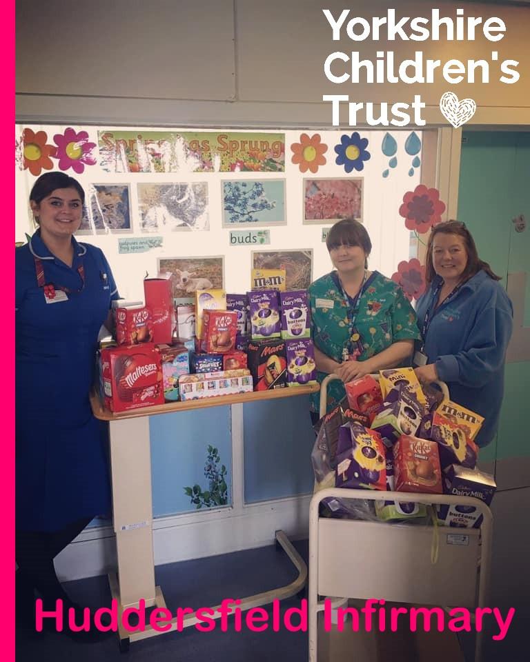 Joanna visiting Ward 18 at Huddersfield Royal Infirmary