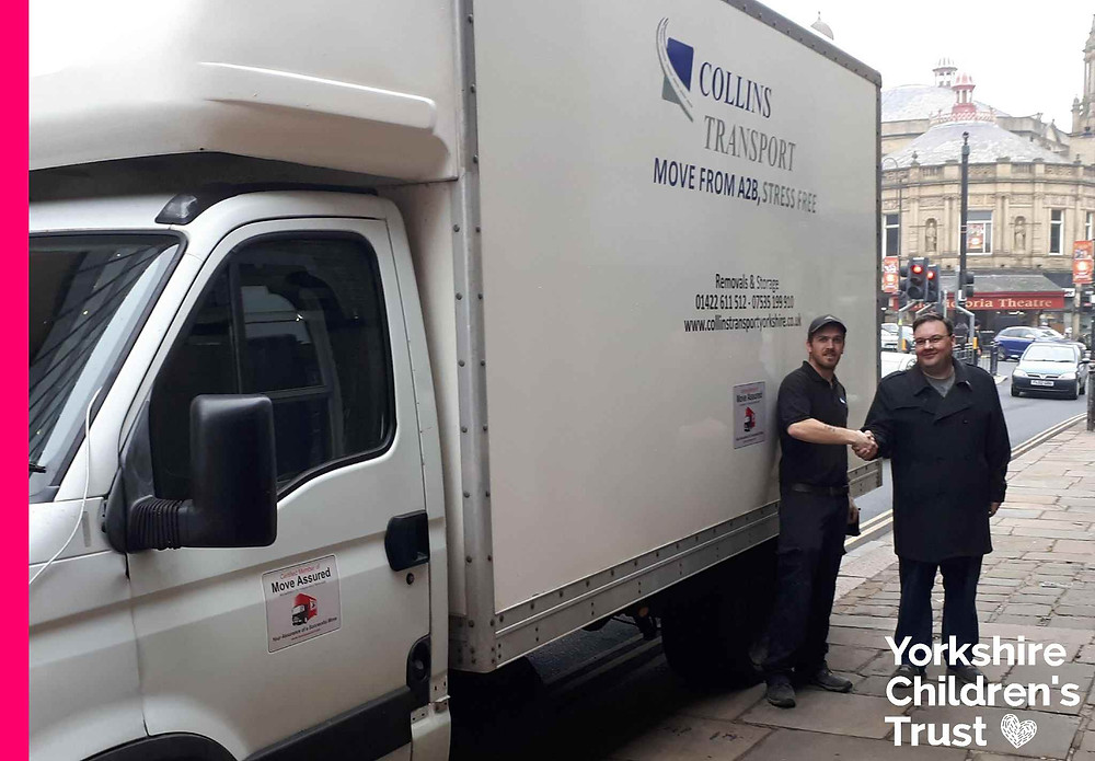 Collins Transport move Yorkshire Children's Trust to their new offices in Halifax