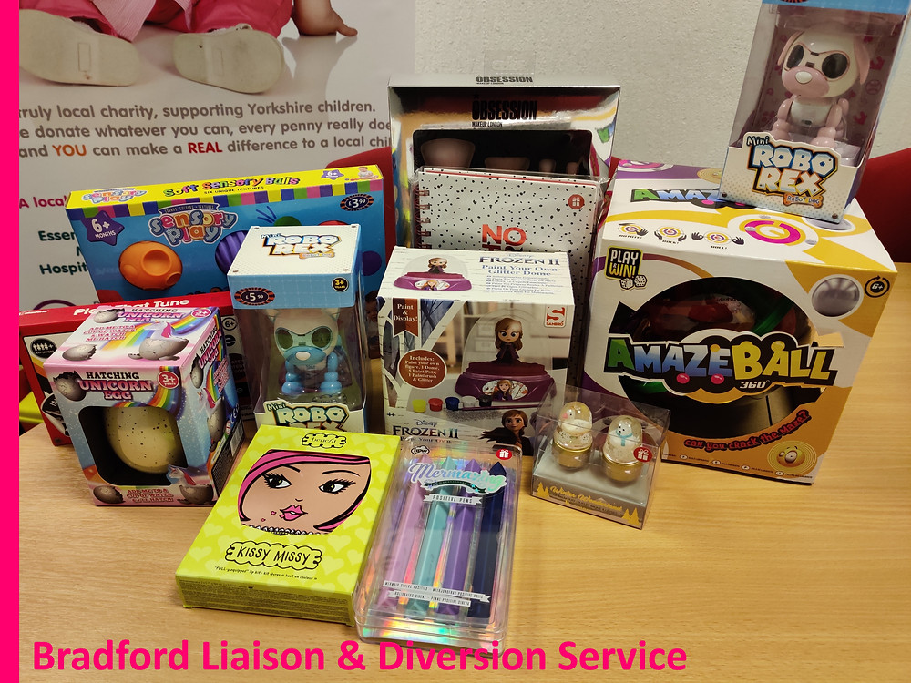 Bradford Liaison & Diversion Bradford South Police donate to YCT Xmas Appeal 2019