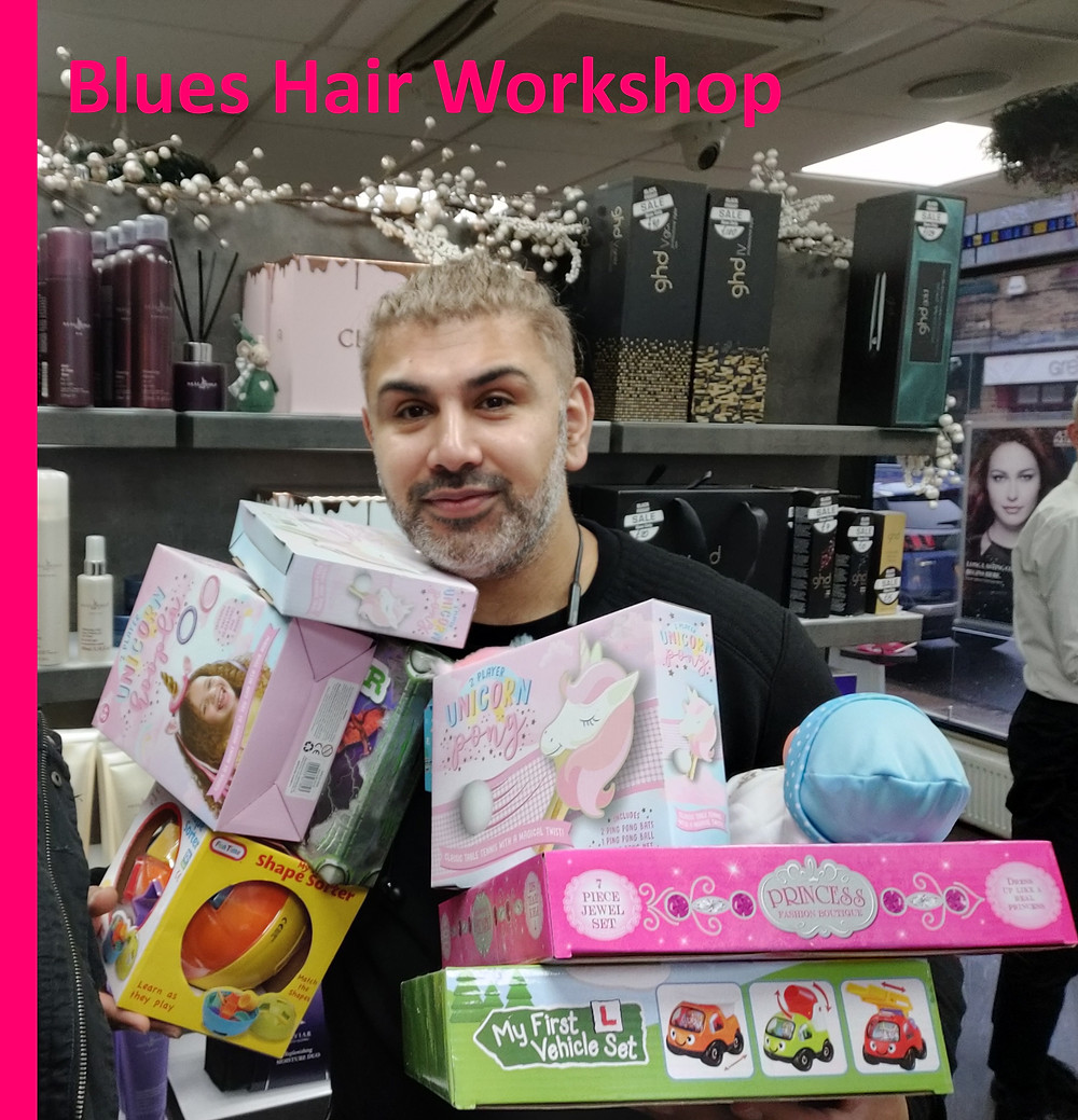 Blues Hair Workshop in Bradford have donated to Yorkshire Childrens Trust