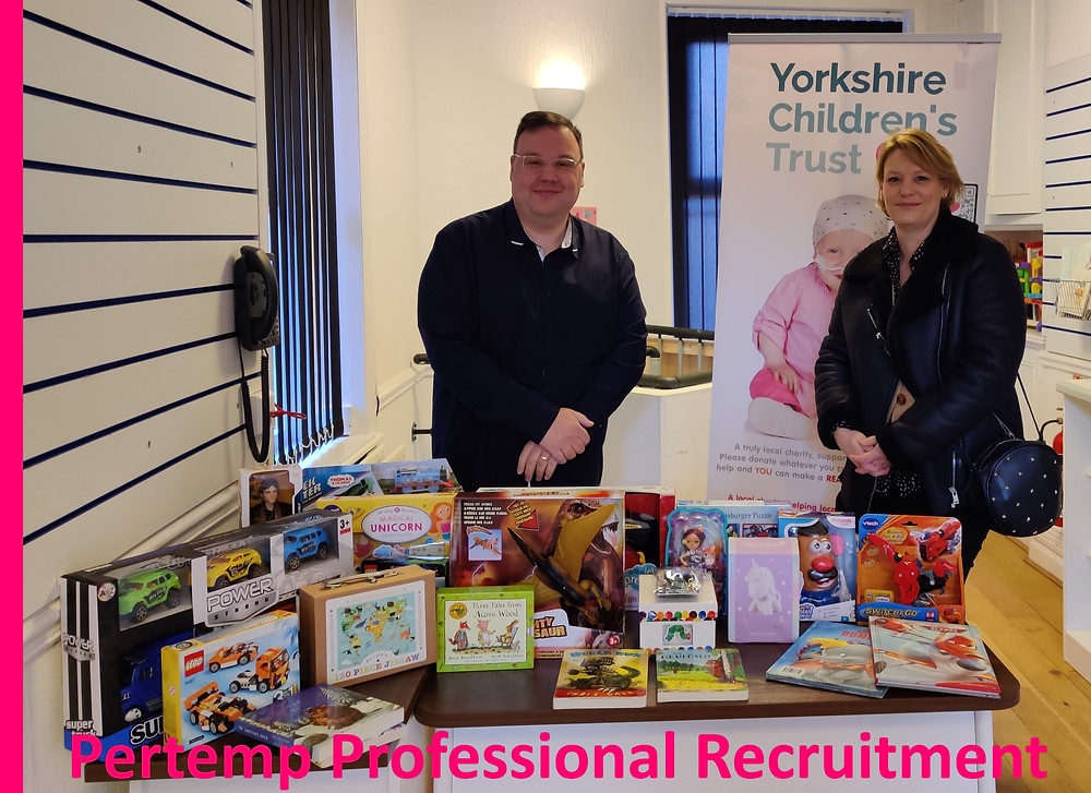 Pertemp Medical donating to the Yorkshire Children's trust Xmas Appeal