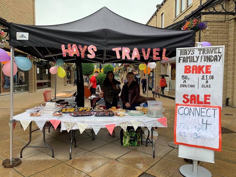 Hays Travel Halifax raise money for Yorkshire Childrens Trust, a local charity, helping local children