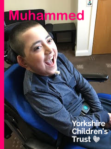 Yorkshire Children's Trust supports Mohammed with a powerpack for his wheelchair. A local charity, supporting local children.