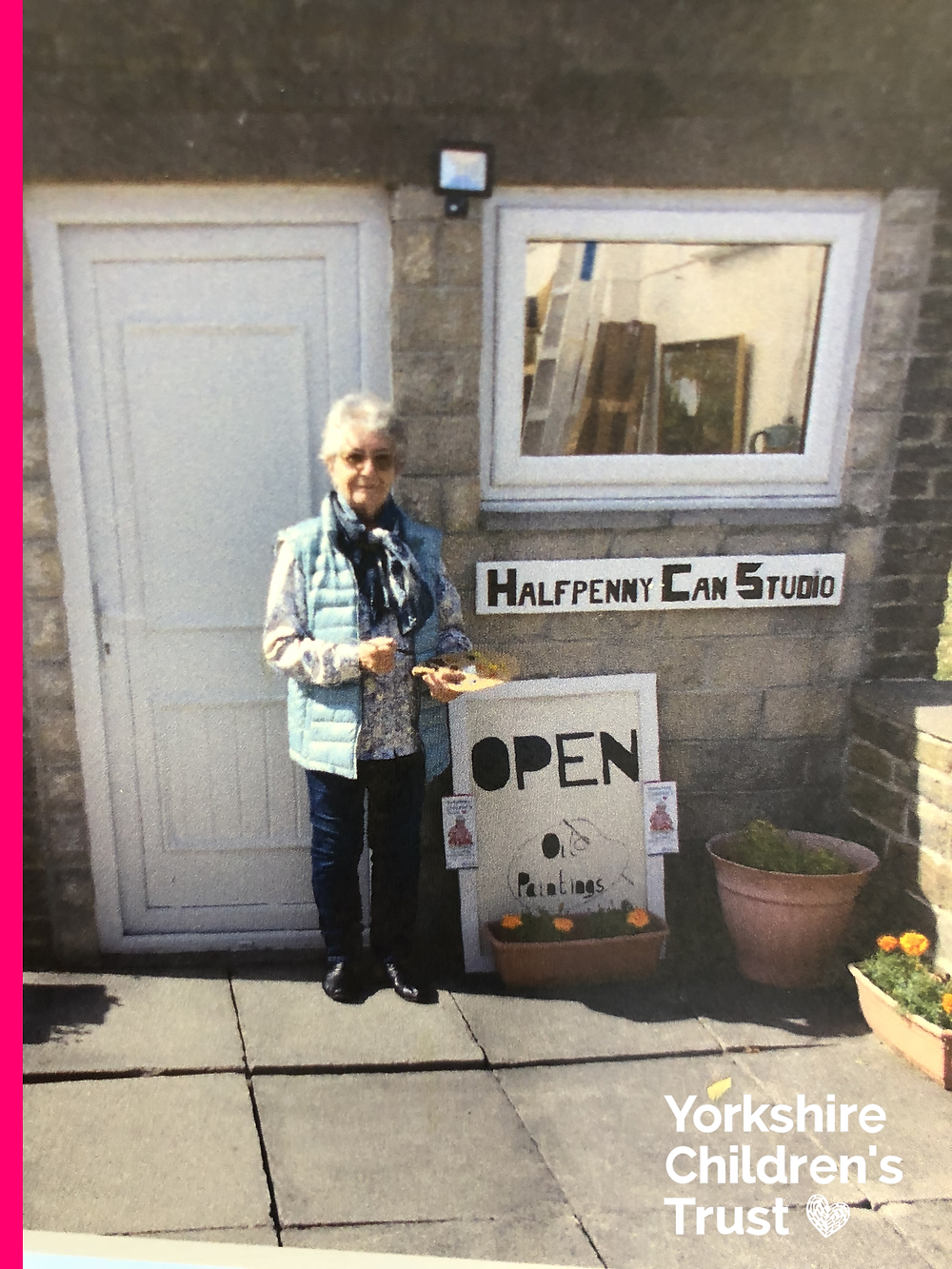 Noeleen Warren, Painting Lady offering commissions to raise funds for Yorkshire Children's Trust