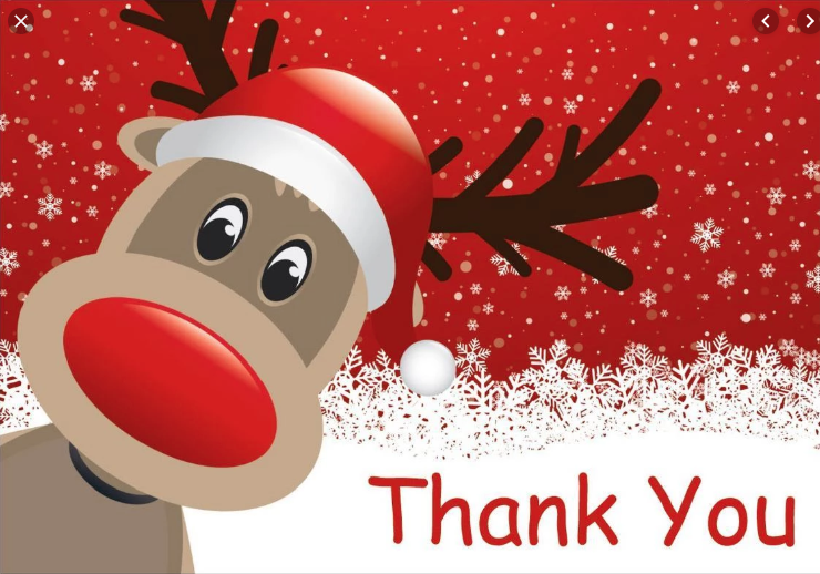 Thank you and Merry Christmas for us all at Yorkshire Children's Trust