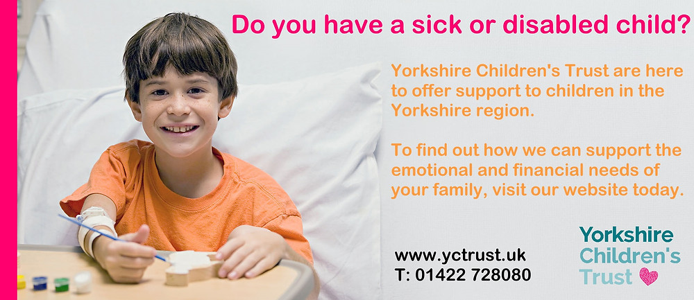 Now is the time to apply for support from Yorkshire Children's Trust, a local Yorkshire Charity based in Halifax, West Yorkshire