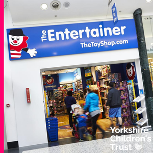 The Entertainer at White Rose in Leeds have raised £1000 for Yorkshire Children's Trust through the Pennies Scheme.
