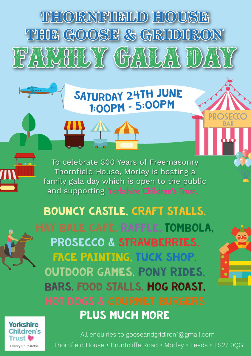 Thornfield House, The Goose & Gridiron Family Gala Day on Saturday 24th June 2017