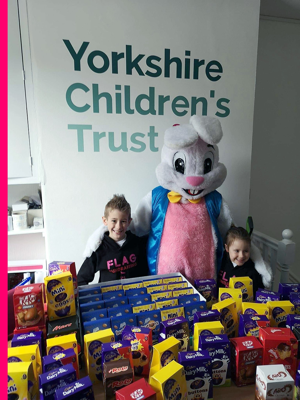 Flag Fundraising support Yorkshire Children's Trust, a local charity, helping local children
