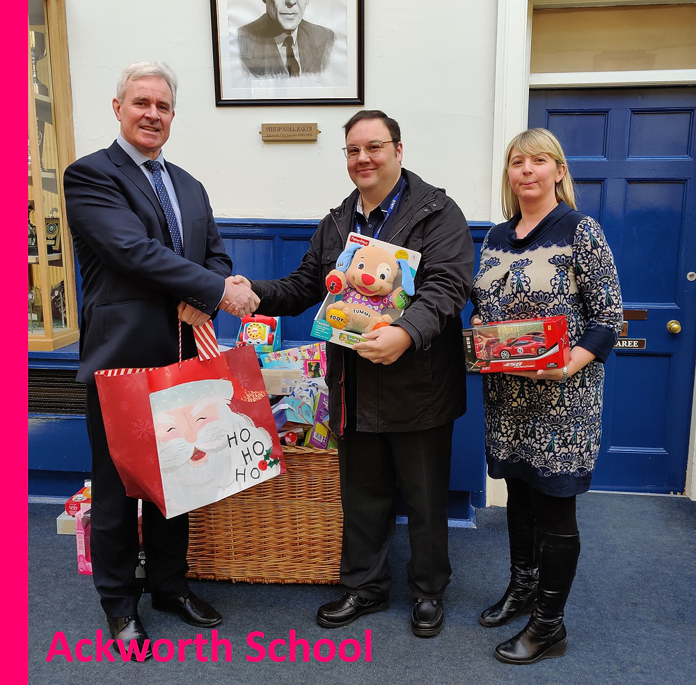 Ackworth School support Yorkshire Children's Trust, a local Yorkshire childrens charity