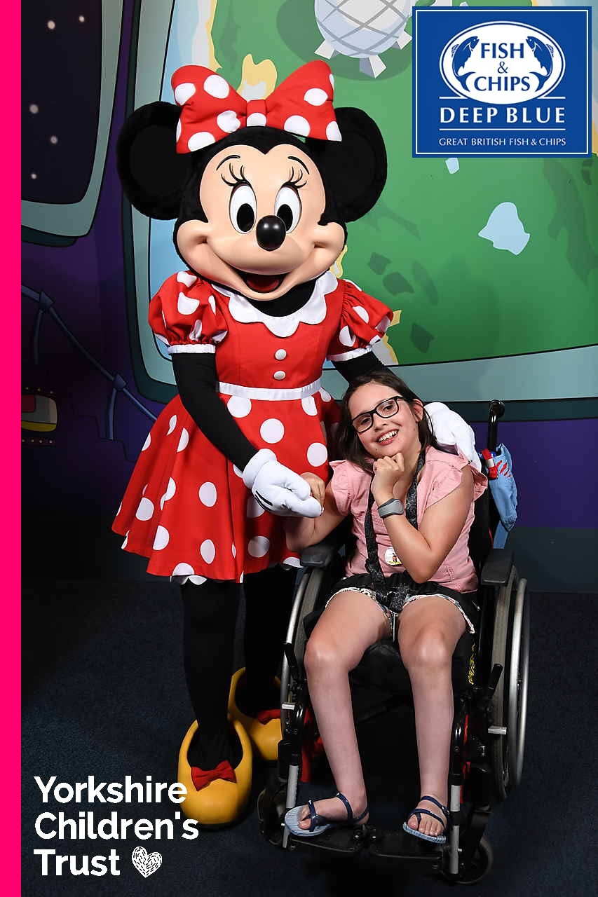 Jessie has an amazing Disney trip thanks to Yorkshire Children's Trust and Deep Blue Fish and Chips.