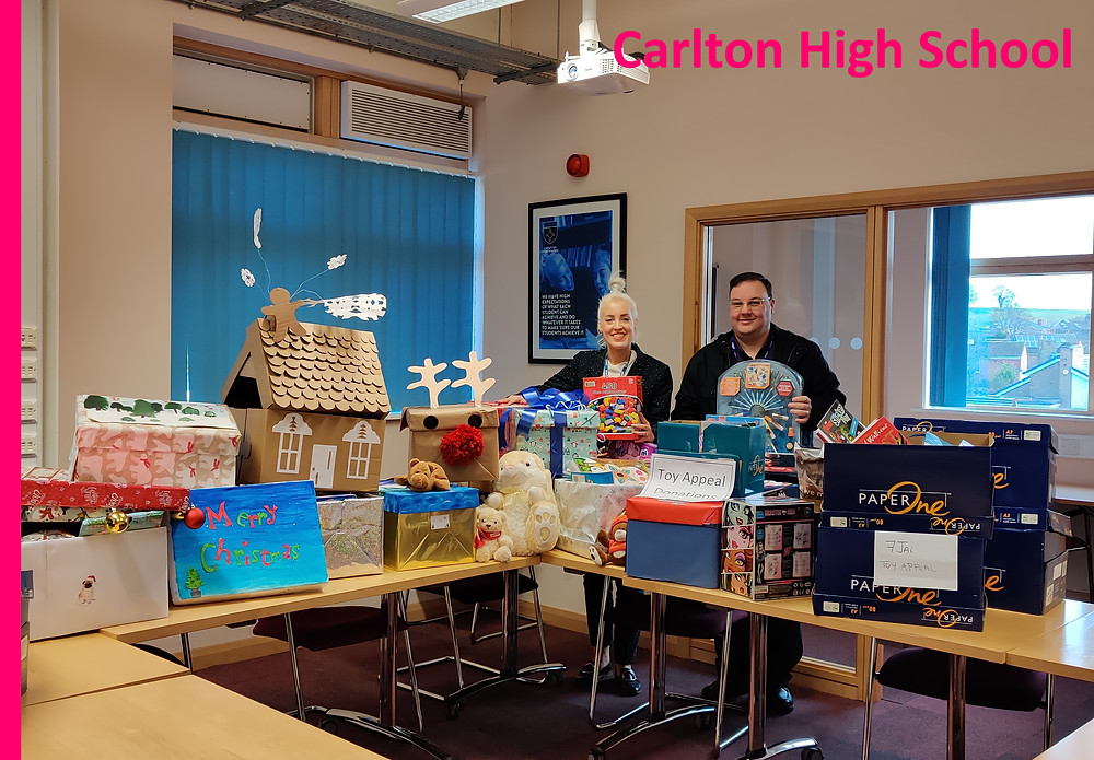 Carlton High School donate to YCT Christmas Appeal 2019