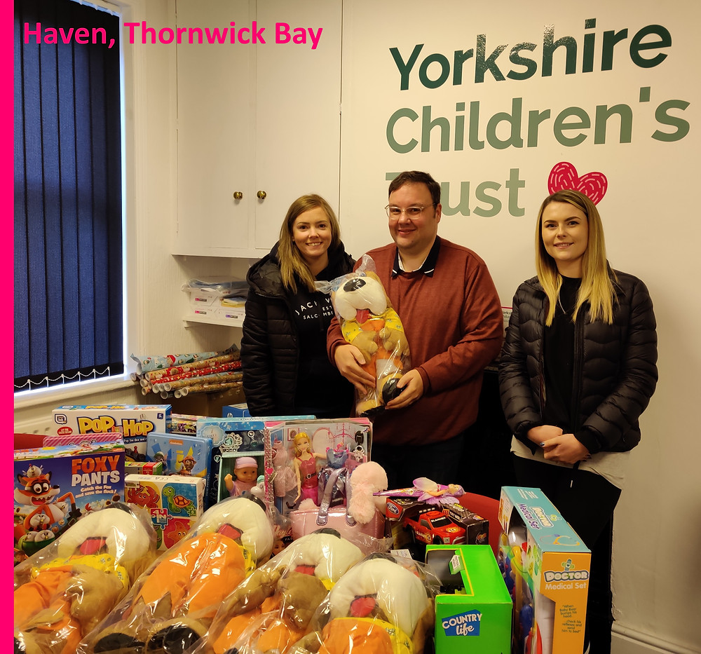 Haven Thornwick Bay support Yorkshire Children's Trust with over 100 gifts for the Christmas Present Appeal 2019