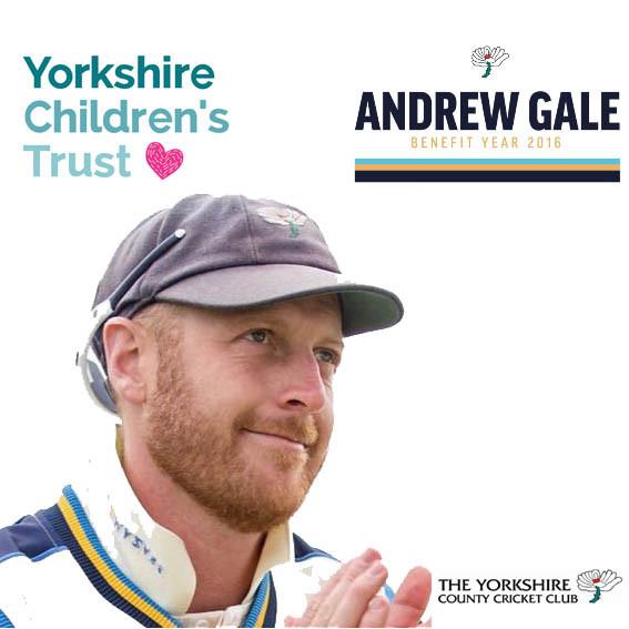 Andrew Gales raised £3,000 for Yorkshire Children's Trust