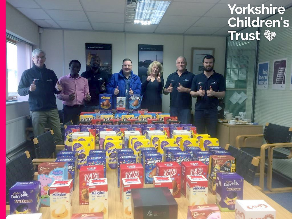 Black & Veatch Ltd in Bradford donate 102 Easter Eggs to YCT and the Easter Egg appeal
