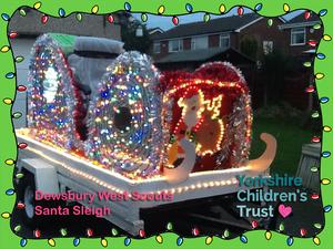 Dewsbury West Scouts Santa Sleigh for Yorkshire Children's Trust