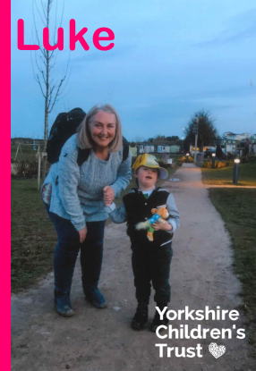 Luke story. Received a holiday from Yorkshire Children's Trust