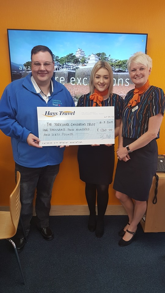 Hays Travel in Brighouse are supporting Yorkshire Children's Trust.