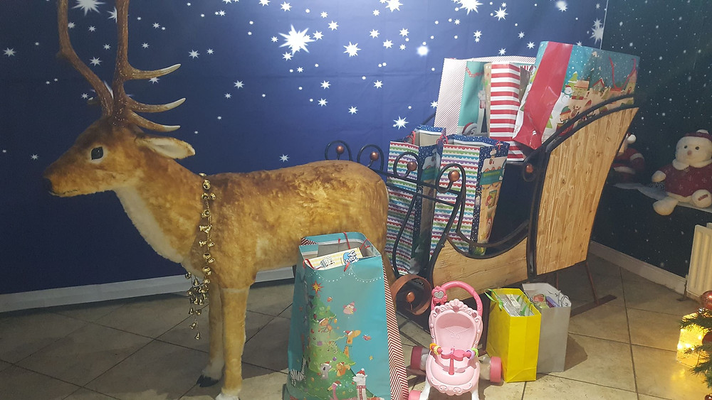 Local families are supporting the YCT Xmas Appeal via Santa Blake