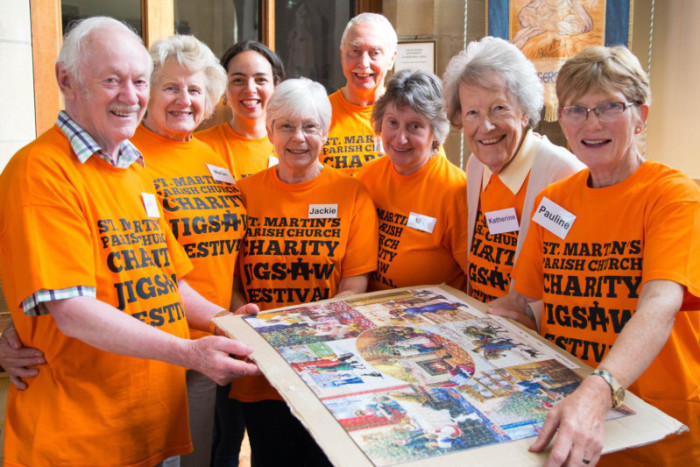 St Martins Brighouse Charity Jigsaw Festival raising funds for Yorkshire Children's Trust in 2018