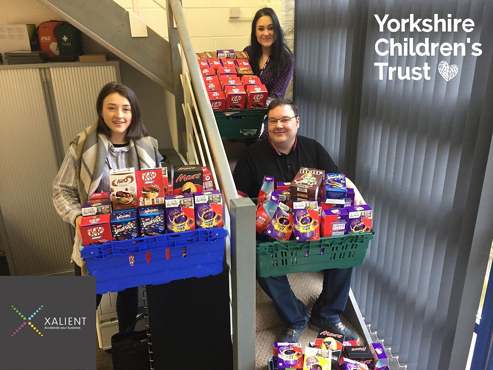 Xalient in Leeds are showing Corporate Social Responsibility by fully committing to support the work of Yorkshire Children's Trust, a local charity, helping local children.