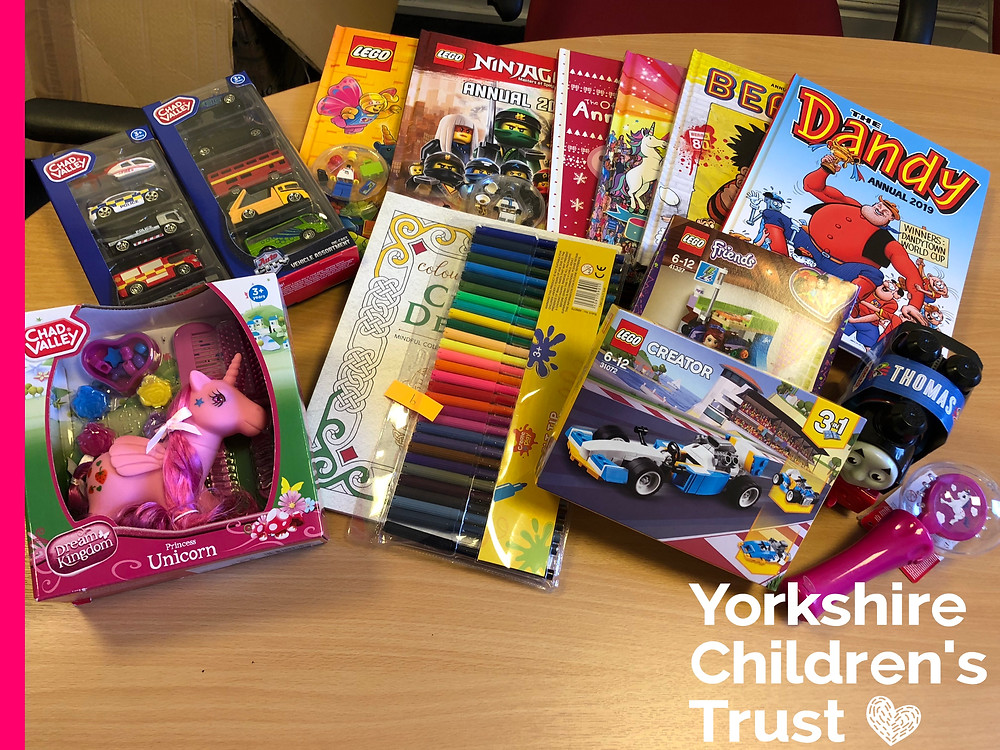 Noeleen Warren, the painting lady of Southowram supports Yorkshire Children's Trust with our Christmas present appeal.