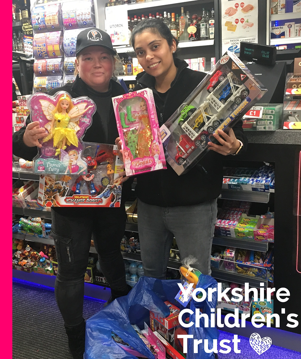 Vicky from Patsons donated some lovely gifts to the Yorkshire Children's Trust Appeal
