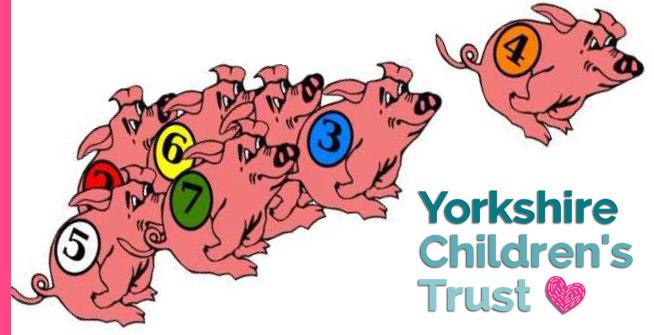 Intergrity Masonic Lodge raised money with Pig Racing Night for Yorkshire Children's Trust