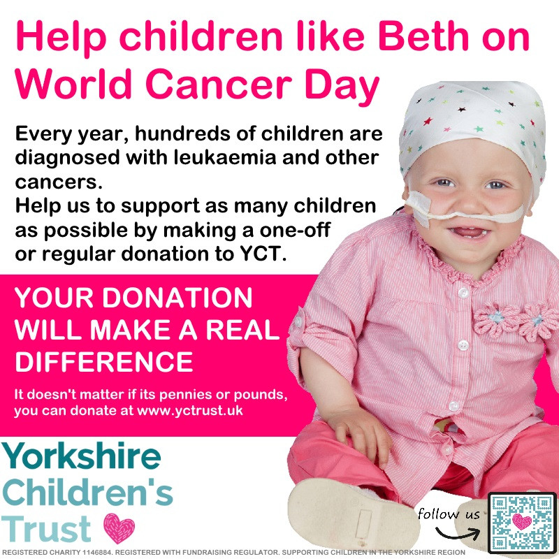 World Cancer Day 2018 - Support children like Beth and Leigh-Anne