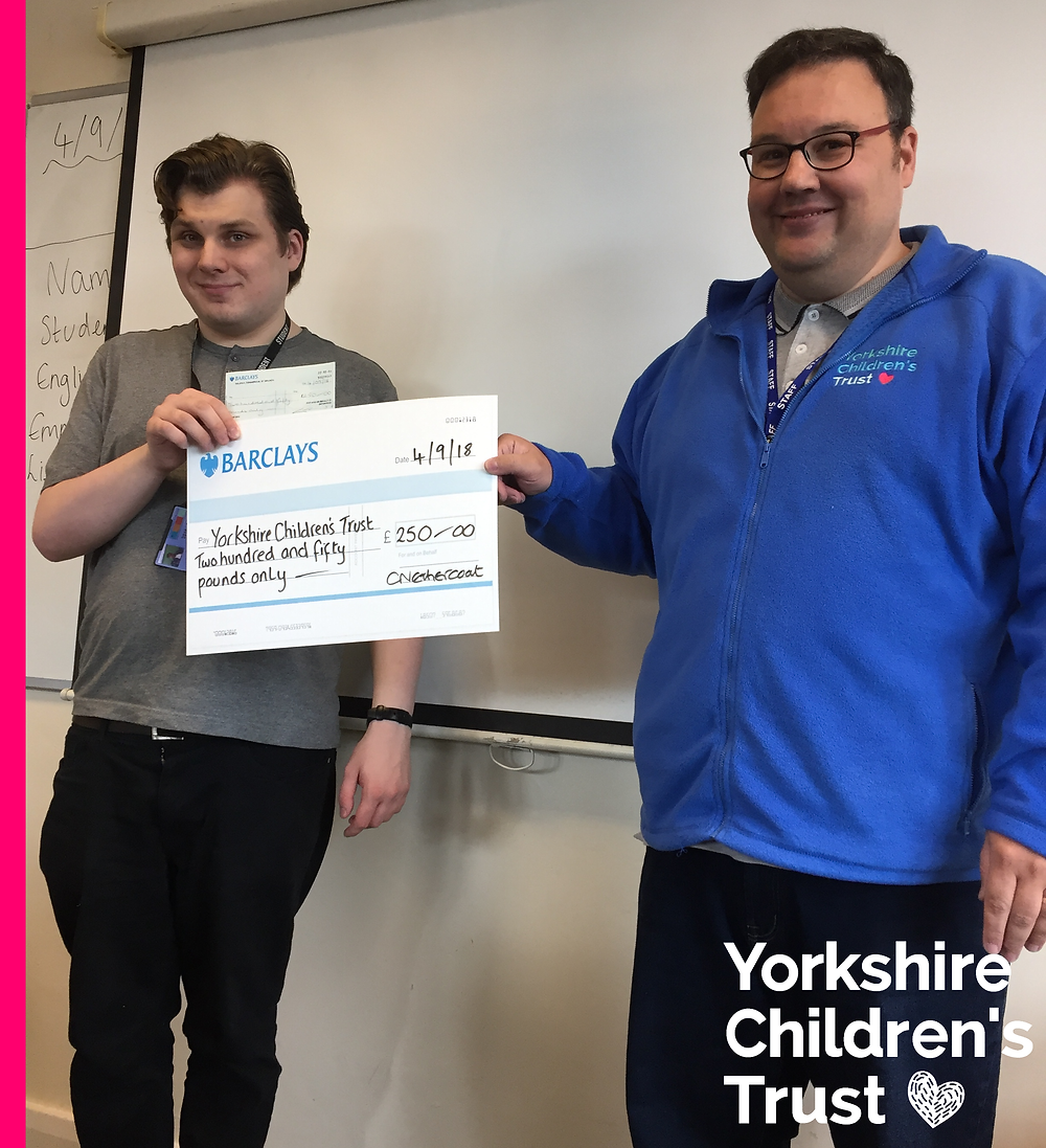 Employability and Life Skills ELS Students at Calderdale College raising money for Yorkshire Children's Trust
