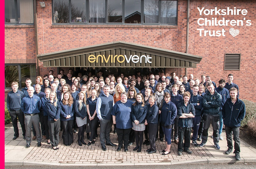 Envirovent Ltd in Harrogate are pleased to be supporting Yorkshire Children's Trust, a local charity, helping local children