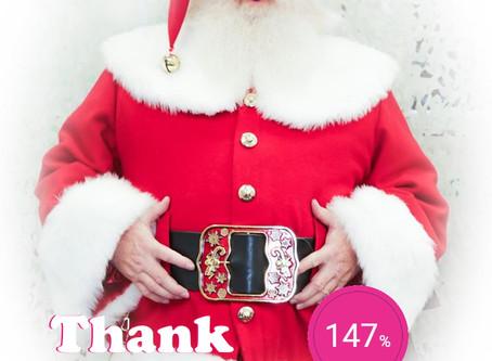 Santa Blake smashes Xmas Target