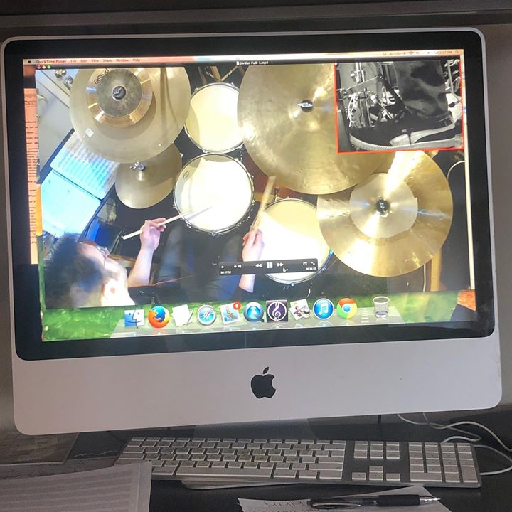 "Working on some videos for my upcoming ""MyMusicMasterclass"" about jazz comping"