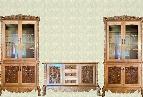 Set mobilier living din lemn masiv