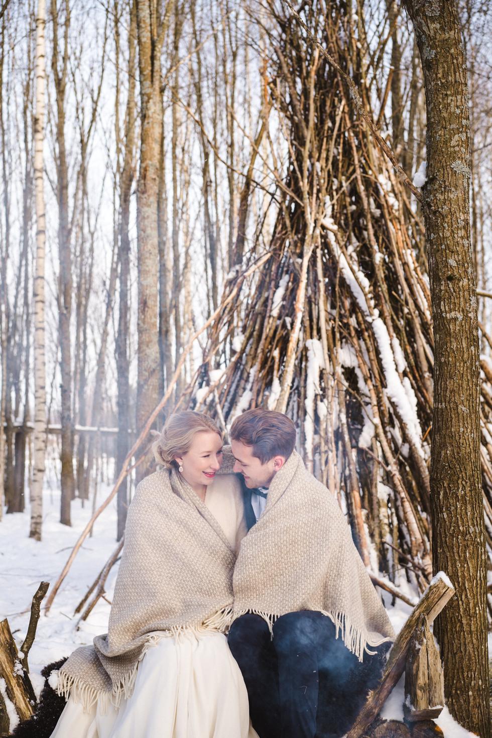 Talvihäät kahdestaan, häät Lapissa
