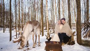 Adventurous Winter Elopement in Finland