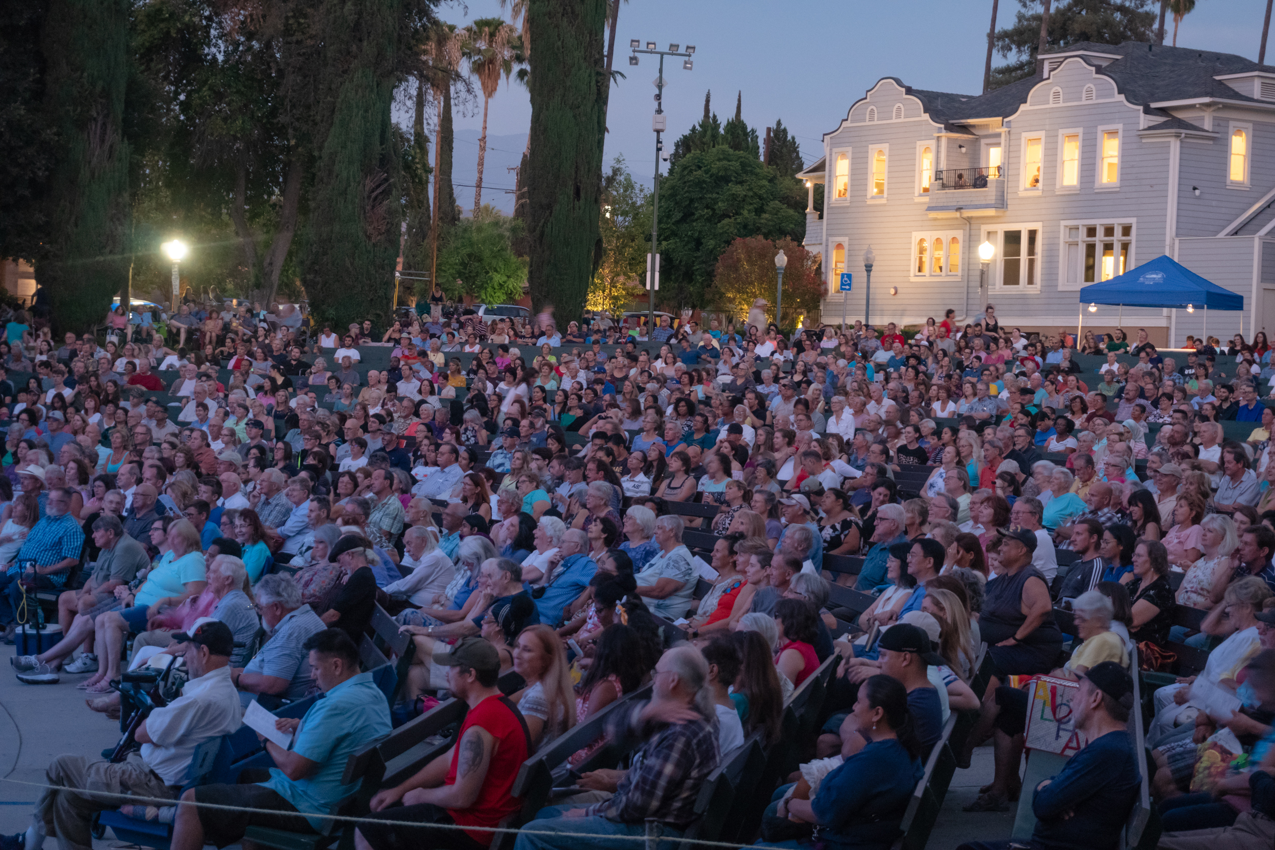 audience at Redlands Bowl